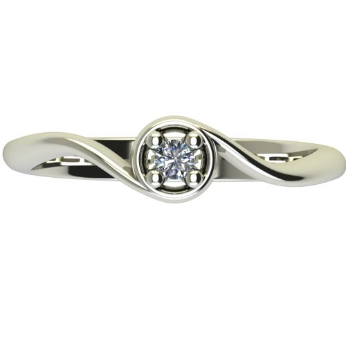 Годежен Пръстен бяло злато с диамант Unity 0,04 ct. 2659 a