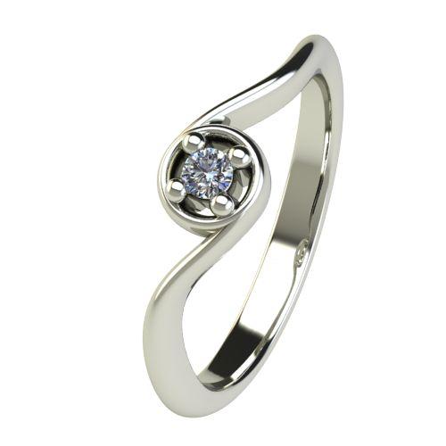 Годежен Пръстен бяло злато с диамант Unity 0,04 ct. 2659