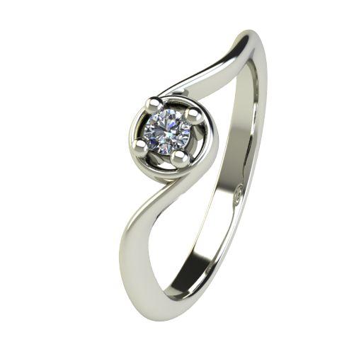 Годежен Пръстен бяло злато с диамант Unity 0,07 ct. 2660