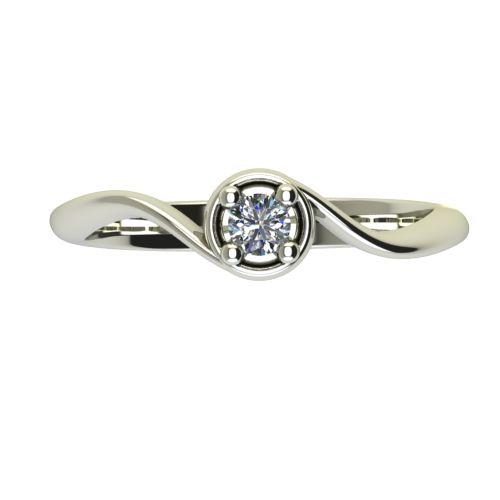 Годежен Пръстен бяло злато с диамант Unity 0,12 ct. 2661 a