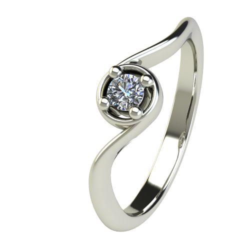 Годежен Пръстен бяло злато с диамант Unity 0,12 ct. 2661