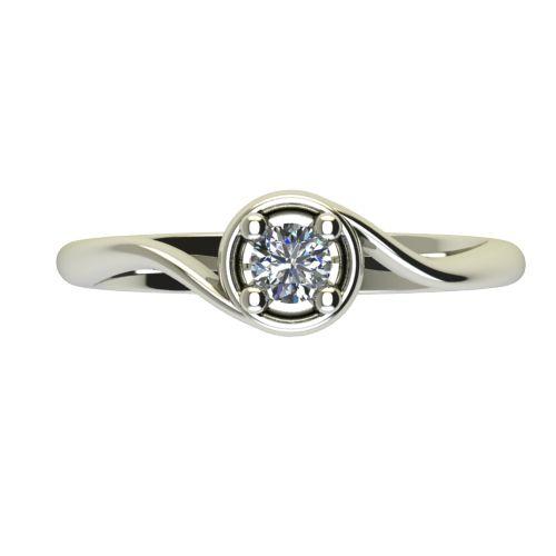 Годежен Пръстен бяло злато с диамант Unity 0,17 ct. 2662 a