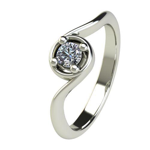 Годежен Пръстен бяло злато с диамант Unity 0,17 ct. 2662
