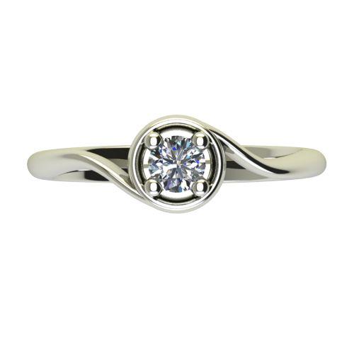 Годежен Пръстен бяло злато с диамант Unity 0,25 ct. 2663 a