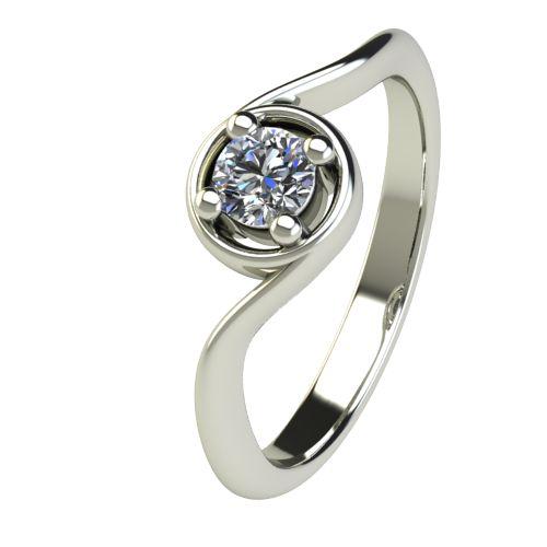 Годежен Пръстен бяло злато с диамант Unity 0,25 ct. 2663