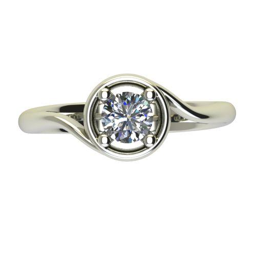 Годежен Пръстен бяло злато с диамант Unity 0,50 ct. 2664 a