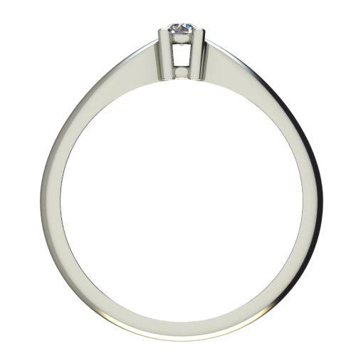 Годежен Пръстен бяло злато с диамант Thin 0,04 ct. 2675 b