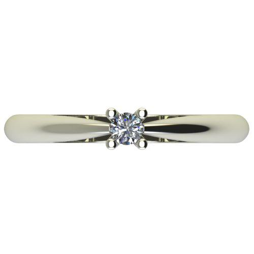 Годежен Пръстен бяло злато с диамант Thin 0,07 ct. 2676 a