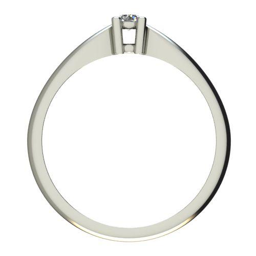 Годежен Пръстен бяло злато с диамант Thin 0,07 ct. 2676 b