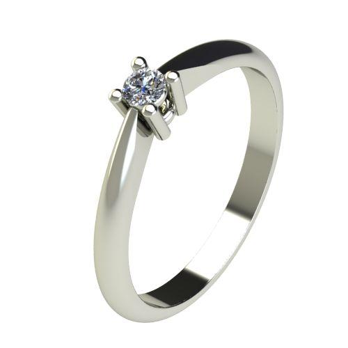 Годежен Пръстен бяло злато с диамант Thin 0,07 ct. 2676