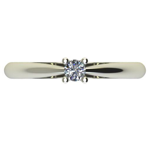Годежен Пръстен бяло злато с диамант Thin 0,12 ct. 2677 a