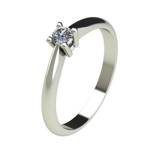 Годежен Пръстен бяло злато с диамант Thin 0,12 ct. 2677
