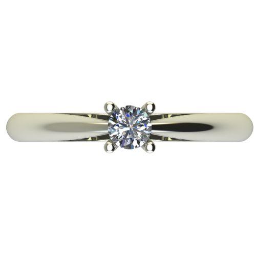 Годежен Пръстен бяло злато с диамант Thin 0,17 ct. 2678 a