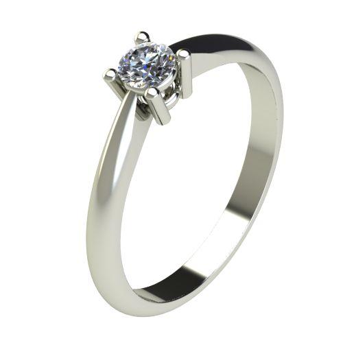 Годежен Пръстен бяло злато с диамант Thin 0,17 ct. 2678