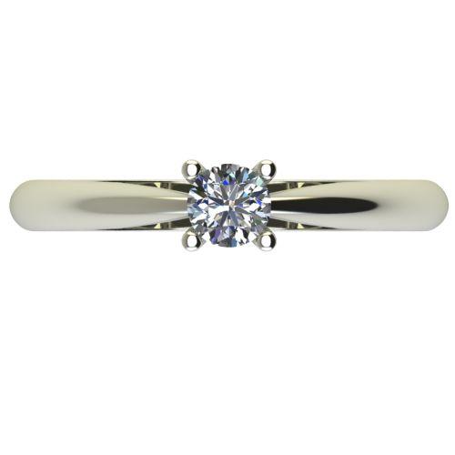 Годежен Пръстен бяло злато с диамант Thin 0,25 ct. 2679 a