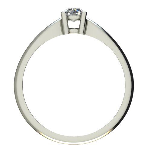 Годежен Пръстен бяло злато с диамант Thin 0,25 ct. 2679 b