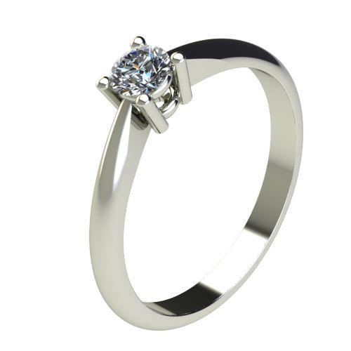 Годежен Пръстен бяло злато с диамант Thin 0,25 ct. 2679