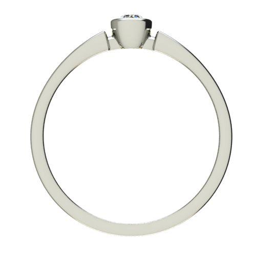 Годежен Пръстен бяло злато с диамант Moon 0,04 ct. 2680 b