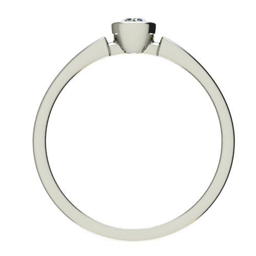 Годежен Пръстен бяло злато с диамант Moon 0,12 ct. 2682 b