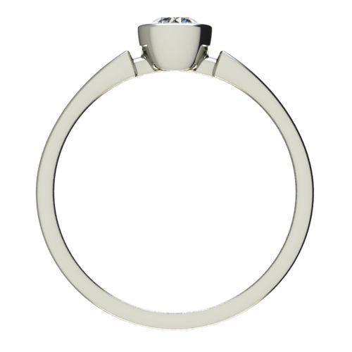 Годежен Пръстен бяло злато с диамант Moon 0,17 ct. 2683 b