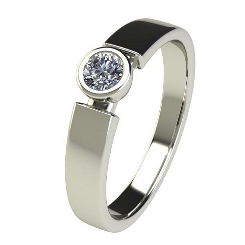 Годежен Пръстен бяло злато с диамант Moon 0,17 ct. 2683