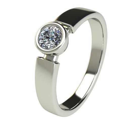 Годежен Пръстен бяло злато с диамант Moon 0,25 ct. 2684
