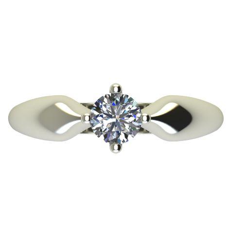 Годежен Пръстен бяло злато с диамант Thin 0,36 ct. 2685 a