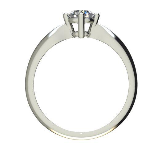 Годежен Пръстен бяло злато с диамант Thin 0,36 ct. 2685 b