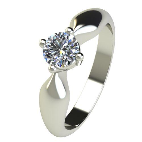 Годежен Пръстен бяло злато с диамант Thin 0,36 ct. 2685