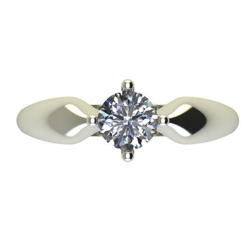 Годежен Пръстен бяло злато с диамант Thin 0,50 ct. 2686 a