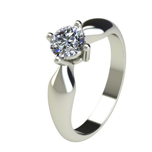 Годежен Пръстен бяло злато с диамант Thin 0,50 ct. 2686