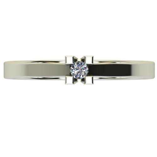 Годежен Пръстен бяло злато с диамант Cante 0,04 ct. 2709 a