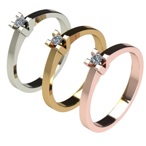 Годежен Пръстен бяло злато с диамант Cante 0,04 ct. 2709 c