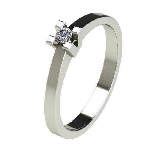 Годежен Пръстен бяло злато с диамант Cante 0,04 ct. 2709
