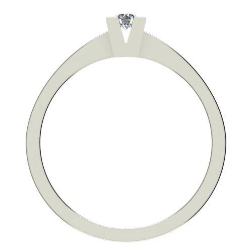 Годежен Пръстен бяло злато с диамант Cante 0,07 ct. 2710 b