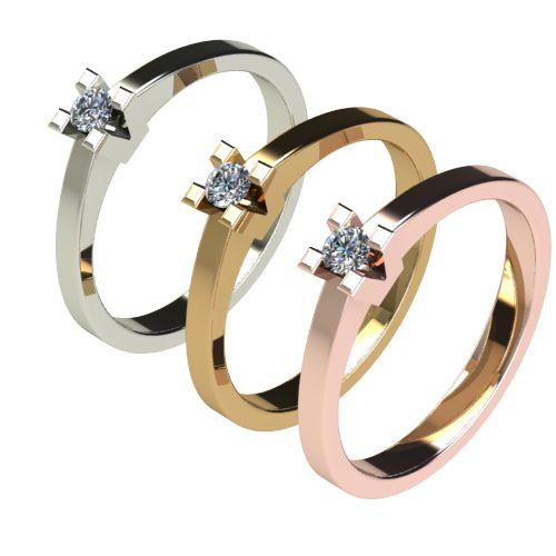 Годежен Пръстен бяло злато с диамант Cante 0,07 ct. 2710 c