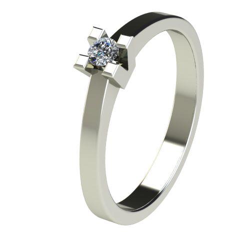 Годежен Пръстен бяло злато с диамант Cante 0,07 ct. 2710