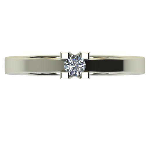 Годежен Пръстен бяло злато с диамант Cante 0,12 ct. 2711 a