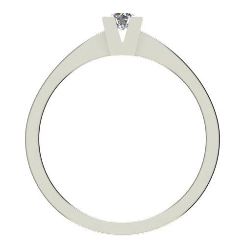 Годежен Пръстен бяло злато с диамант Cante 0,12 ct. 2711 b