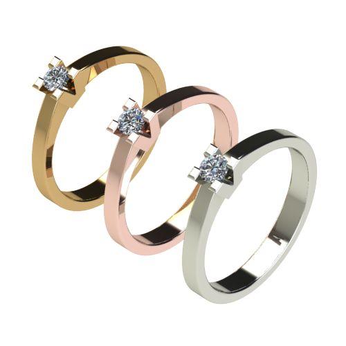 Годежен Пръстен бяло злато с диамант Cante 0,12 ct. 2711 c