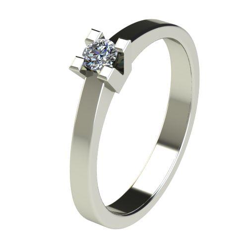 Годежен Пръстен бяло злато с диамант Cante 0,12 ct. 2711