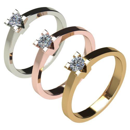Годежен Пръстен бяло злато с диамант Cante 0,17 ct. 2712 c