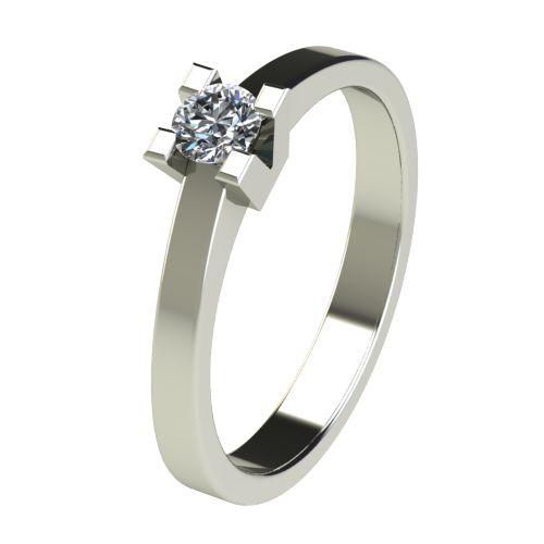 Годежен Пръстен бяло злато с диамант Cante 0,17 ct. 2712