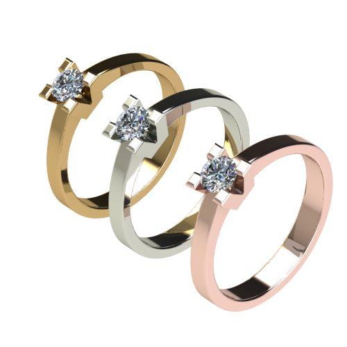 Годежен Пръстен бяло злато с диамант Cante 0,25 ct. 2713 c