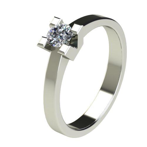Годежен Пръстен бяло злато с диамант Cante 0,25 ct. 2713