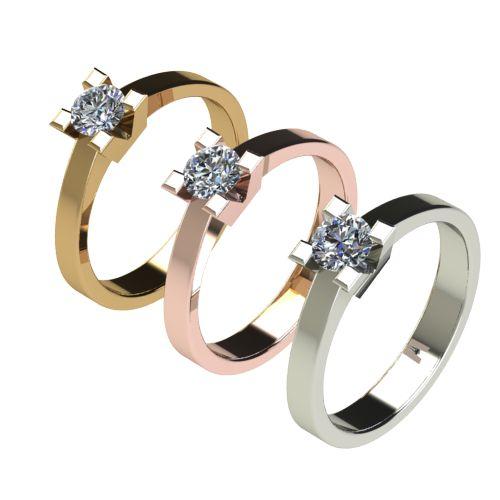 Годежен Пръстен бяло злато с диамант Cante 0,36 ct. 2714 c