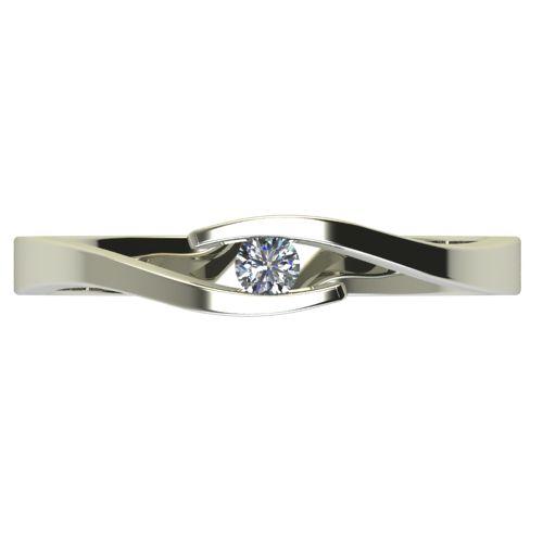 Годежен Пръстен бяло злато с диамант Close 0,04 ct. 2703 a