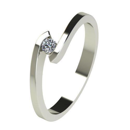 Годежен Пръстен бяло злато с диамант Close 0,04 ct. 2720