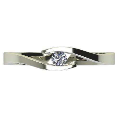 Годежен Пръстен бяло злато с диамант Close 0,07 ct. 2704 a