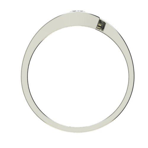 Годежен Пръстен бяло злато с диамант Close 0,07 ct. 2704 b